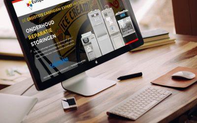 Nieuwe website incl. webshop